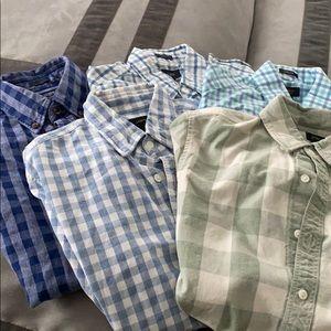 Bundle of 5 long sleeve jcrew xs shirts